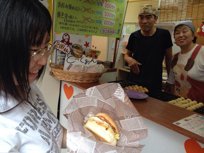 とっくぁんバーガーが発売開始 稲田本町 たこむすめ