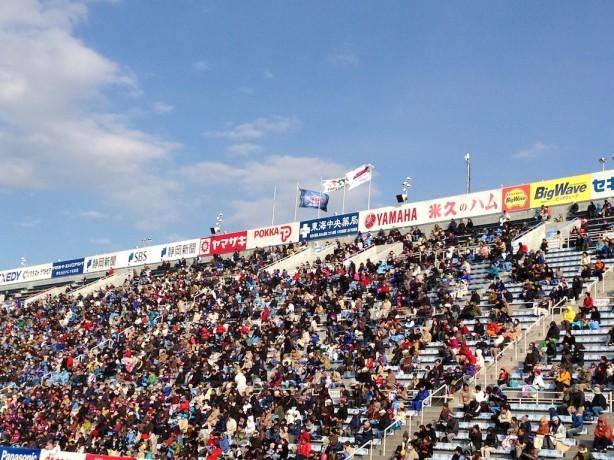 ヤマハスタジアムの強風