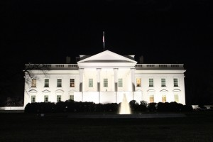 ライトアップされたホワイトハウス