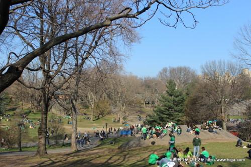 祝日で賑わうセントラルパーク
