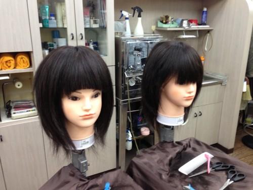 リカちゃんの表情も、前髪で変わります