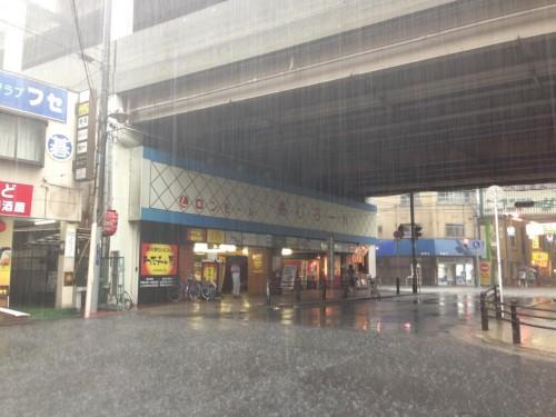 この日は東大阪全域で記録的な集中豪雨