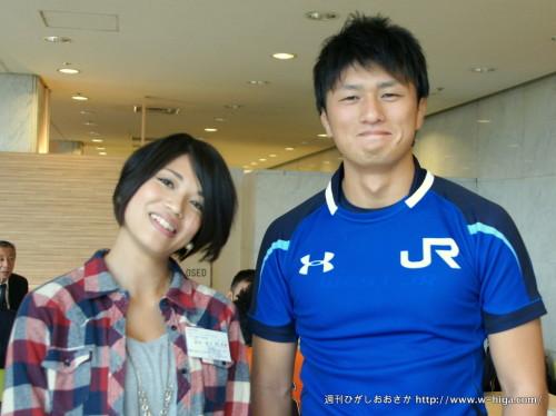 JR西日本・真田一郎バイスキャプテンは、やさしさが大きな体全体からにじみ出ていました
