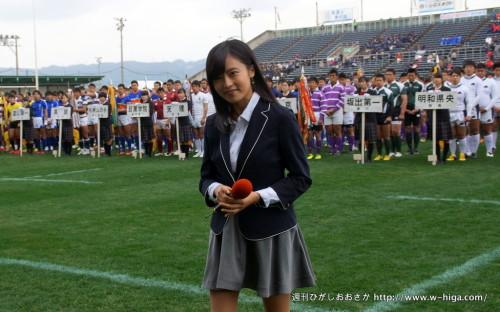 大会史上もっとも就任時に知名度が高いイメージキャラクター・小島瑠璃子さん。細くて小さくて、最高でした。