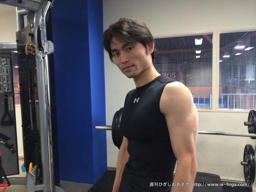 トレーニング中に取材に応じてくださった東坂さん