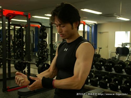 見よ東坂さんの筋肉!