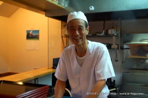 笑顔いっぱいの原田さん。物静かなところが、風車の弥七。