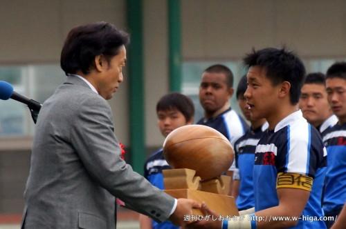表彰式では東大阪市長杯も送られました