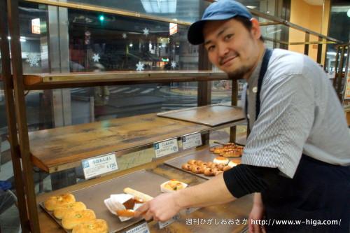 パンと地域への想いは人一倍の大西さん、カレーパンのように熱い男!