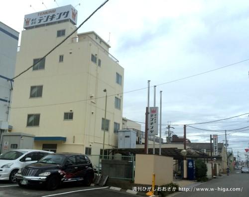 テンキングの社屋。小阪の事務所から徳庵へ向かう道!