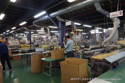 とても整理整頓された八尾工場。品質に対する意識の高さの表れ