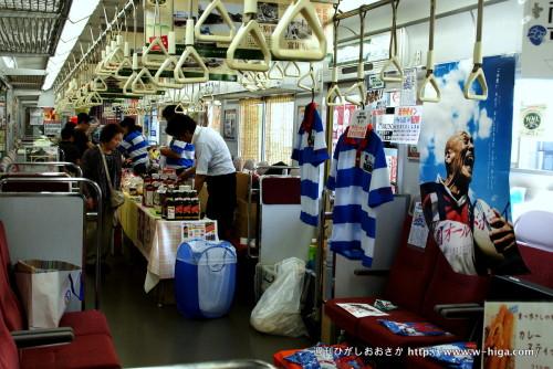 東大阪市のブースもとい車両。新ラガーシャツも展示。