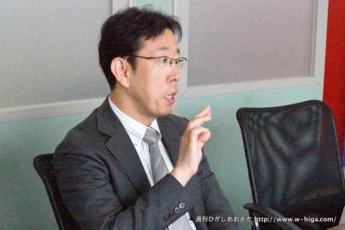 石川明一社長。バリバリの東大阪人