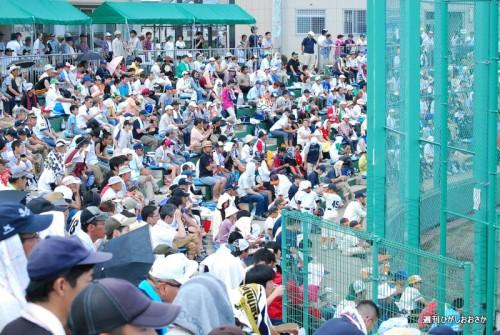 2013年の様子。花園セントラルスタジアムはじまって以来の大観衆
