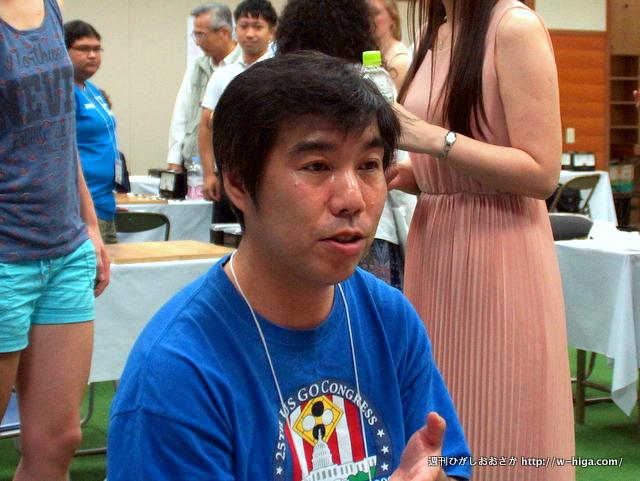 前田亮六段。アメリカの囲碁界で最も有名な日本人棋士。
