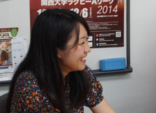 野口美保さん。東大阪市出身・在住。NPO勤務です。