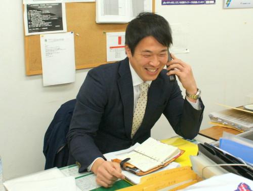 2015年3月、チーム広報をしていた当時の坪井新監督