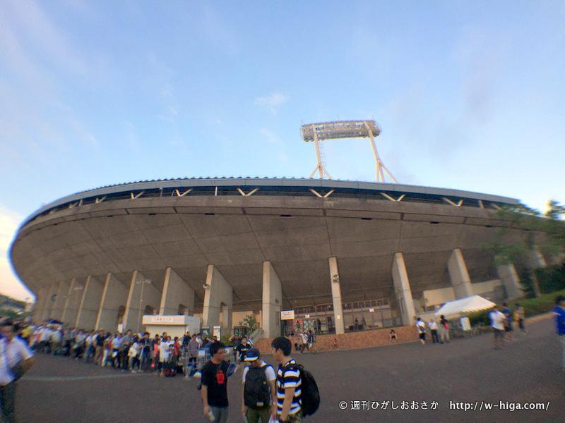 大きく迫力のあるスタジアム!