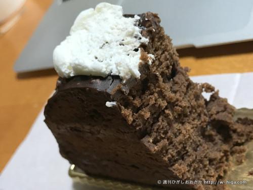 しっかり濃縮している、チョコレート。