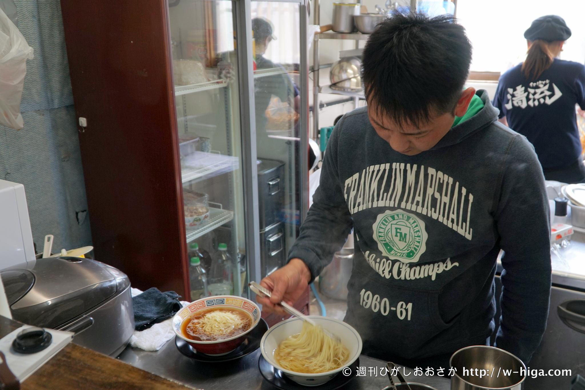 眼光鋭いラーメン侍、麺や清流が持つ刀は切れ味抜群「あっさりラーメン塩」